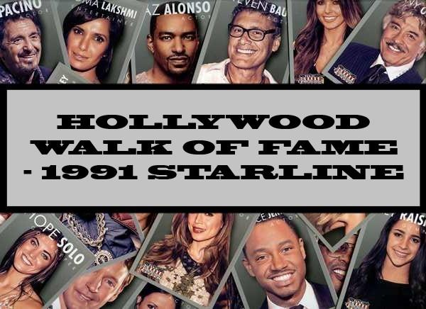 Hollywood Walk Of Fame - 1991 Starline