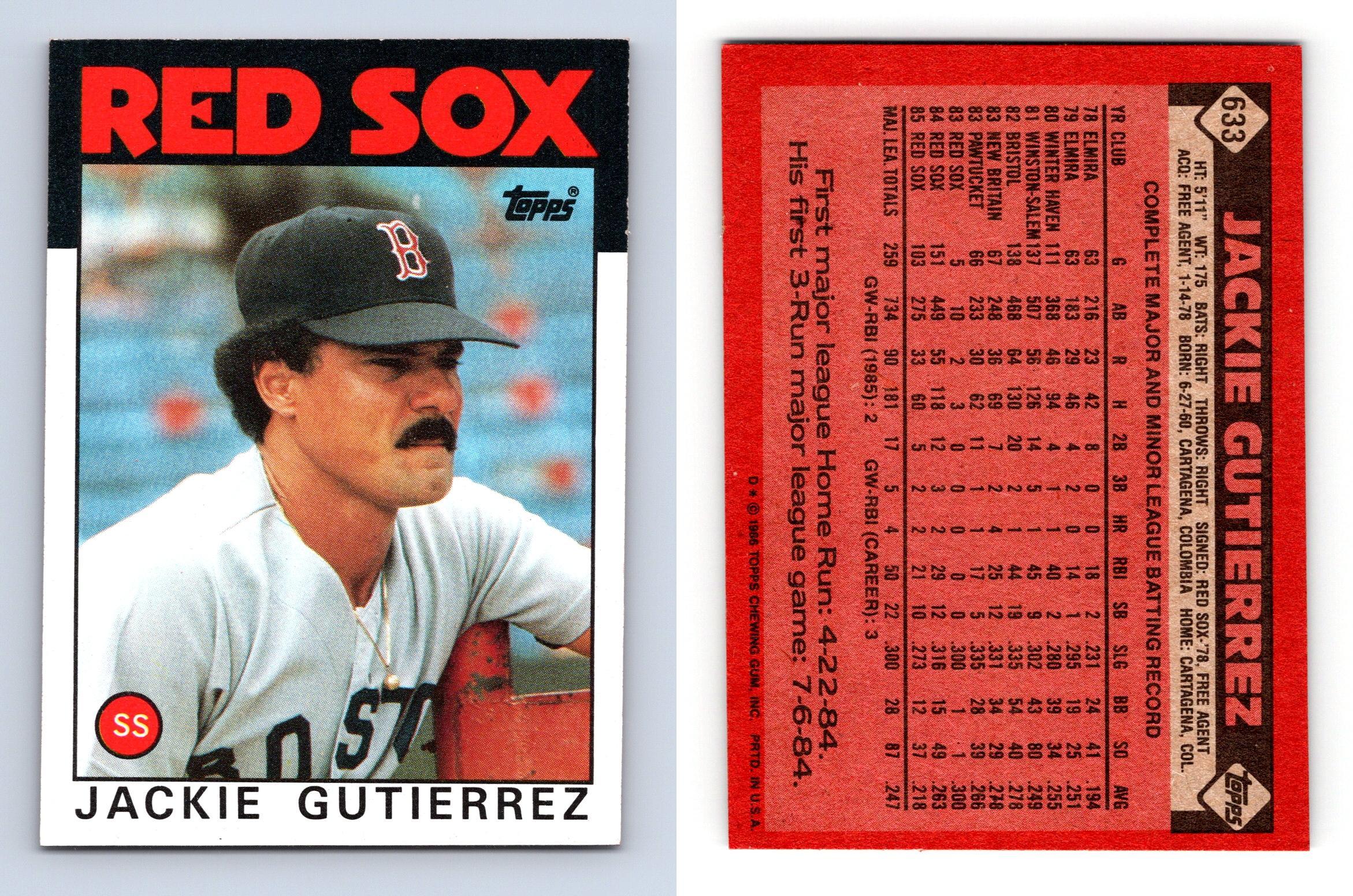 1986 Topps Baseball Card #633 Jackie Gutierrez