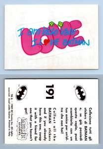 Batman Movie #137 Merlin 1989 Sticker