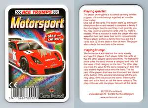 V-8-STAR Irmscher Motorsport 2005 Ace Trumps Card