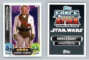 Star Wars Force Attax Force Awakens Set 1 #64 Snaggletooth