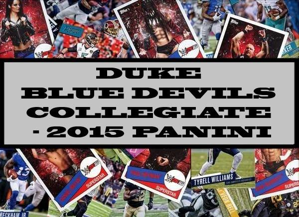 Duke Blue Devils Collegiate - 2015 Panini