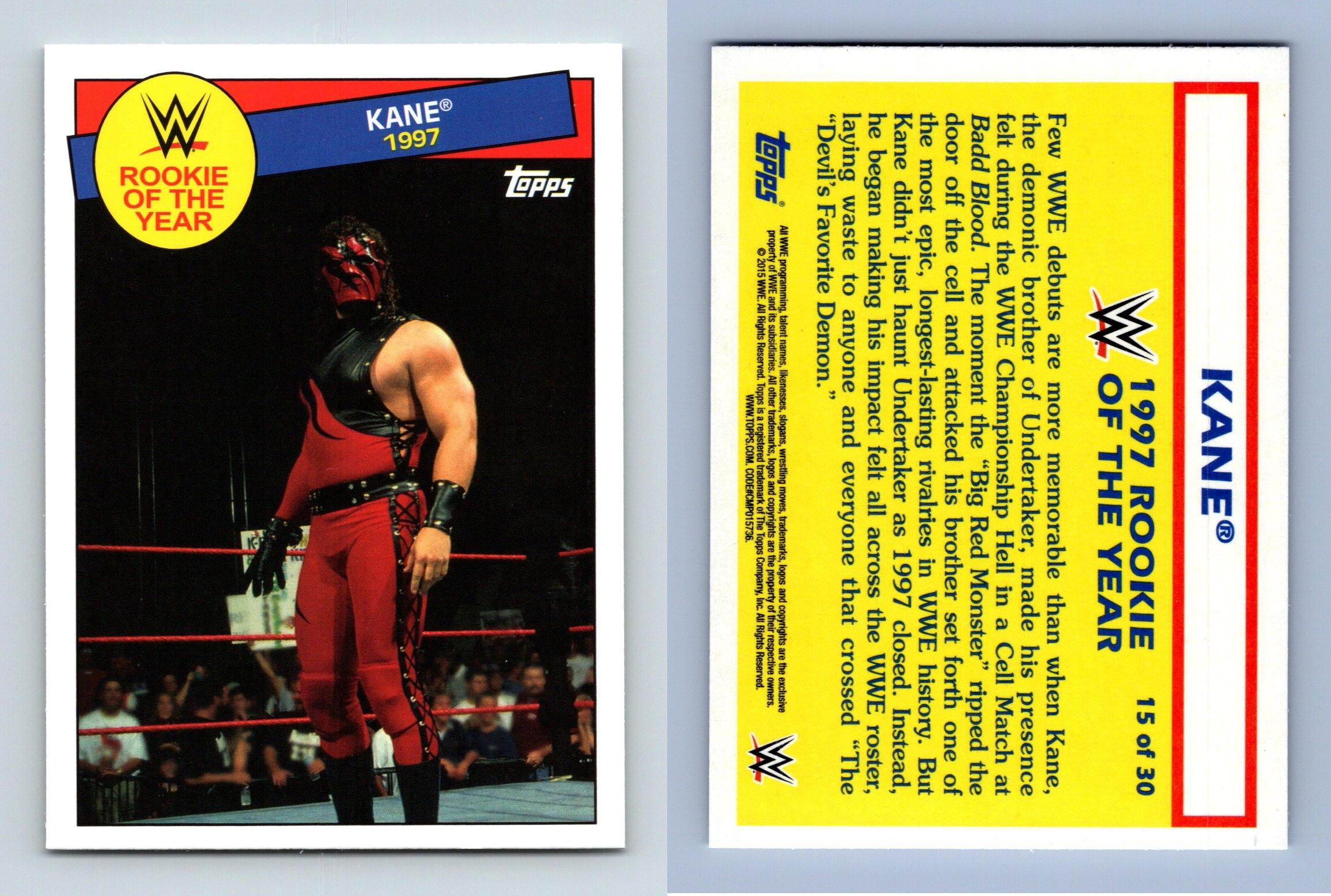Kane 1997 15 Wwe Heritage 2015 Rookie Of The Year Topps Trading Card