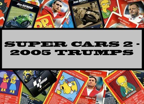Super Cars 2 - 2005 Carta Mundi