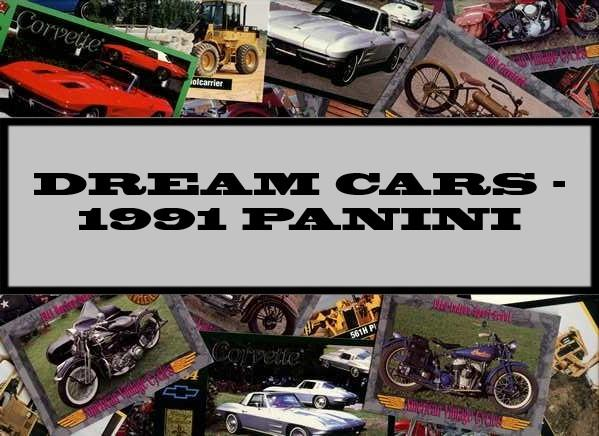 Dream Cars - 1991 Panini