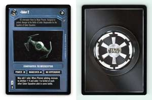 Scimitar Squadron TIE Star Wars Death Star II Limited 2000 DS Common CCG Card