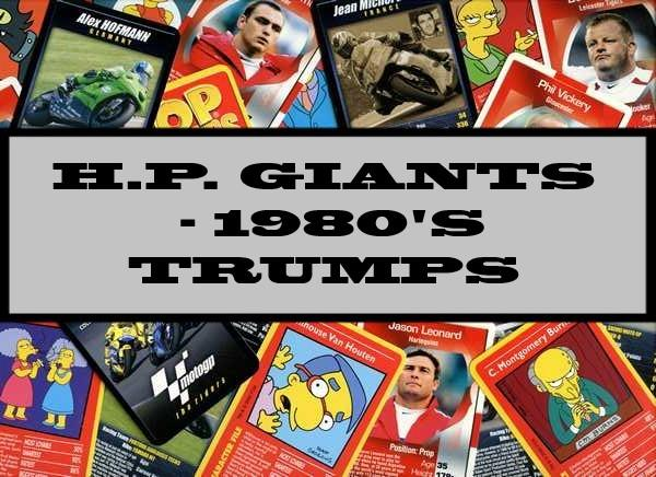 H.P. Giants - 1980's Waddingtons