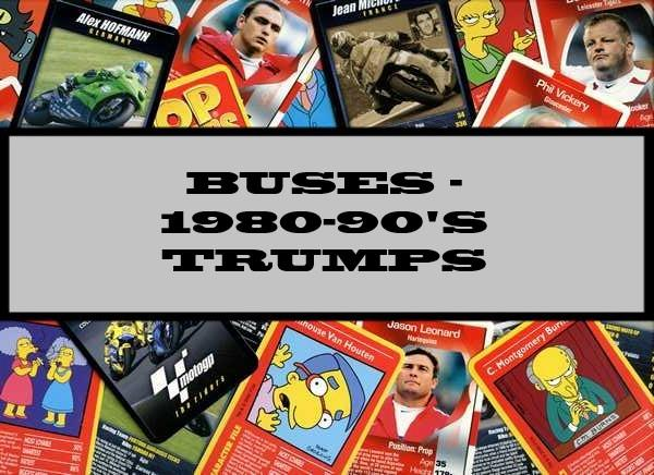 Buses - 1980-90's Waddingtons