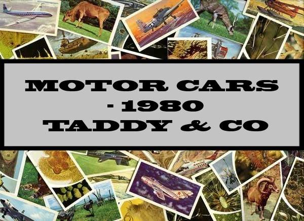 Motor Cars - 1980 Taddy & Co