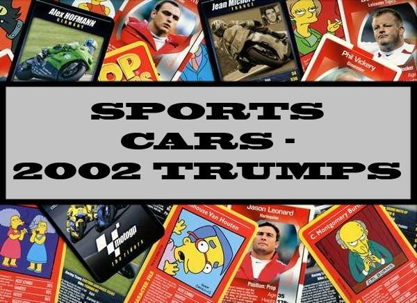 Sports Cars - 2002 Winning Moves