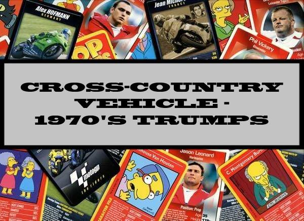 Cross-Country Vehicles - 1970's Ace