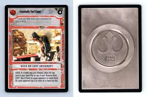 Star Wars CCG Tatooine Eventually You/'ll Lose