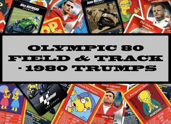 Olympic 80 Field And Track - 1980 Dubreq