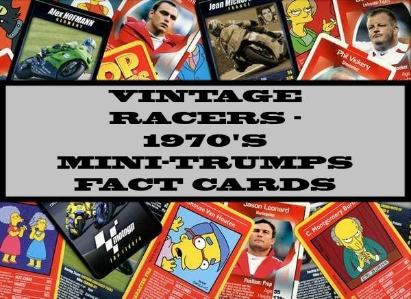 Vintage Racers - 1970's Dubreq mini-Trumps Fact Cards