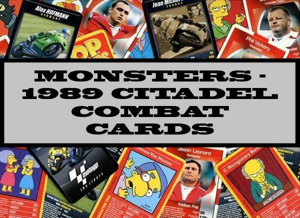 Monsters - 1989 Citadel Combat Cards