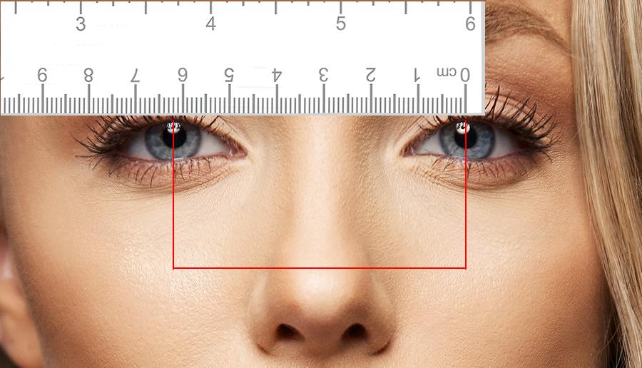 graphic relating to Printable Pupillary Distance Ruler referred to as Measuring your Pupillary Length (PD) Superdrug Gles