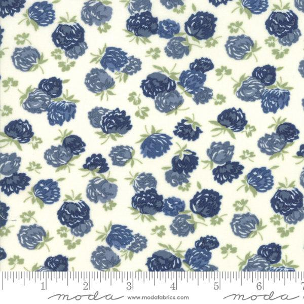Moda At Home - Blossoms Cream Indigo