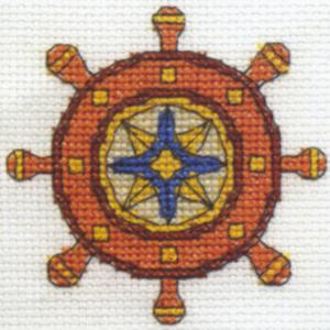 Ships Wheel Cross Stitch Kit