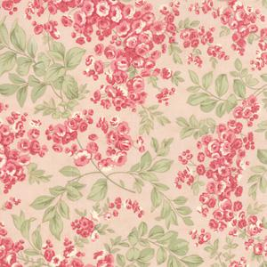 Moda Whitewashed Cottage - Rose Faded Roses 44064-12