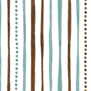 Quilting Treasures - Shine Bright - Teal Dotted Stripes