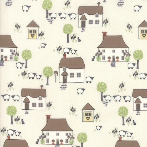 Moda Cottontail Cottage - Cottontail White Houses