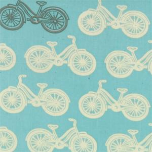 Moda Little Things Organics - Aqua Cycle Time 14091-13