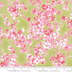Moda Fabric - Sakura - Watercolour Petals Leaf