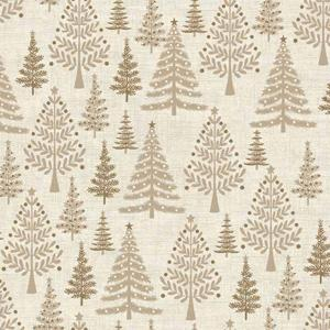 Makower Scandi 3 - Trees Hessian