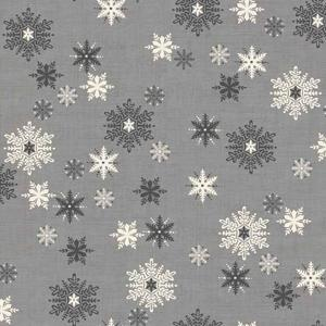 Makower Scandi 3 - Snowflakes Grey