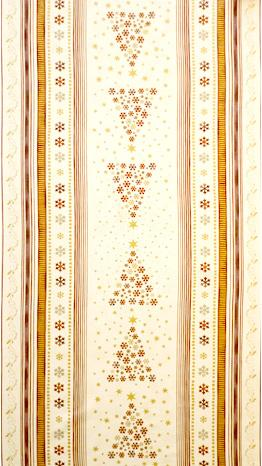 Stof Fabrics - Brilliant Christmas - Copper Trees Border