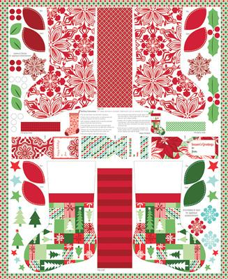 Moda Jingle - Multi Stocking Panel