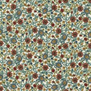 Timeless Treasures - Essex - Hedge Floral Ivory