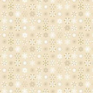 Makower Christmas 2017 Traditional - Snowflakes Cream