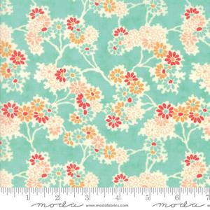 Moda Fabric Chestnut Street - Blueberry Twigs & Daisies 20271-13