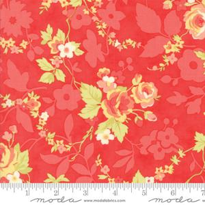 Moda Fabric Chestnut Street - Pomegranate Chestnut Bloom 20270-11