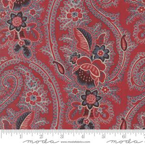 Moda Fabric - Pondicherry - Indian Red Paisley