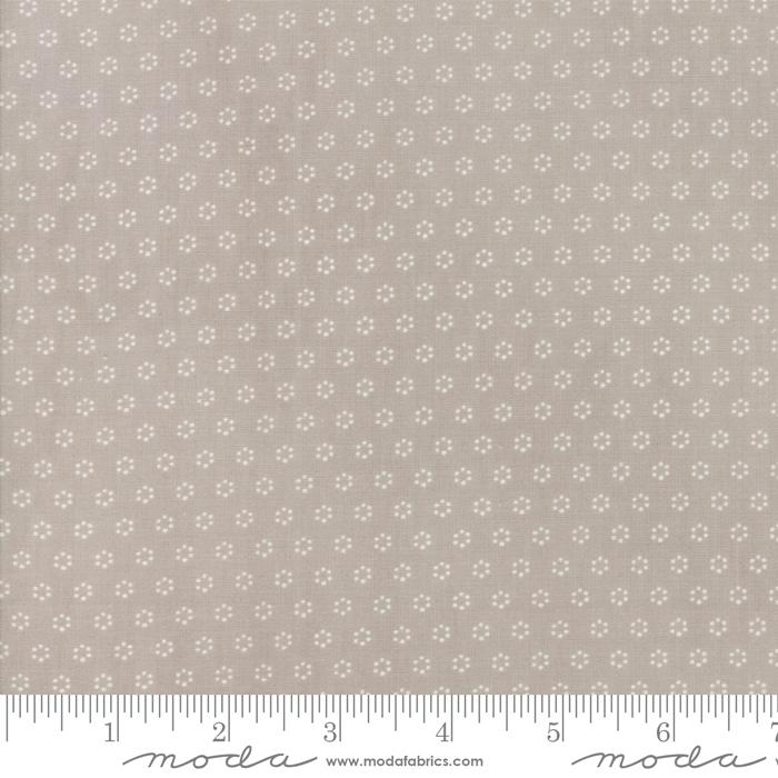 Moda Fabric - All Hallows Eve - Fog Polka Dot Circles