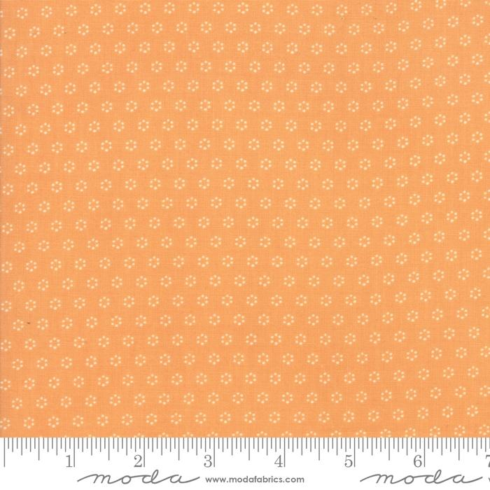 Moda Fabric - All Hallows Eve - Pumpkin Polka Dot Circles