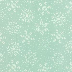 Moda Very Merry - Snowflakes Light Aqua