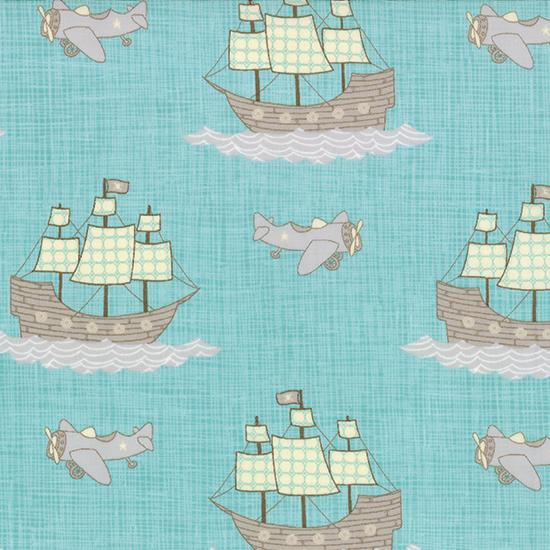 Moda Storybook - Aqua Pirates and Planes