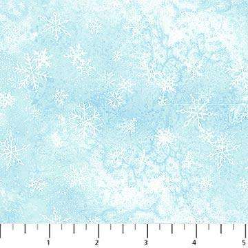Northcott Eskimo Snow - Light Blue Snowflakes 20652-40
