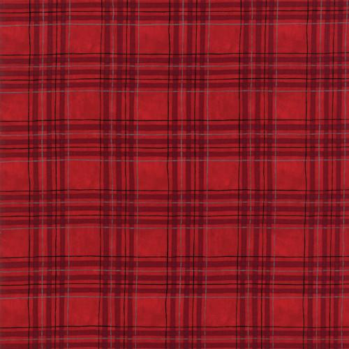 Moda Fabric - Hearthside Holidays - Berry Red Winter Plaid