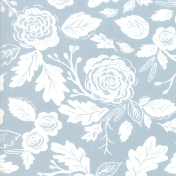 Moda Harvest Road - Floral Smokey Blue
