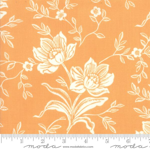 Moda Fabric - All Hallows Eve - Pumpkin Woodblock Floral