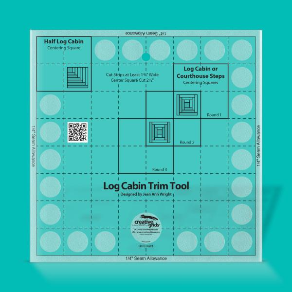 "Creative Grids 8"" Log Cabin Trim Tool Two - CGRJAW1"