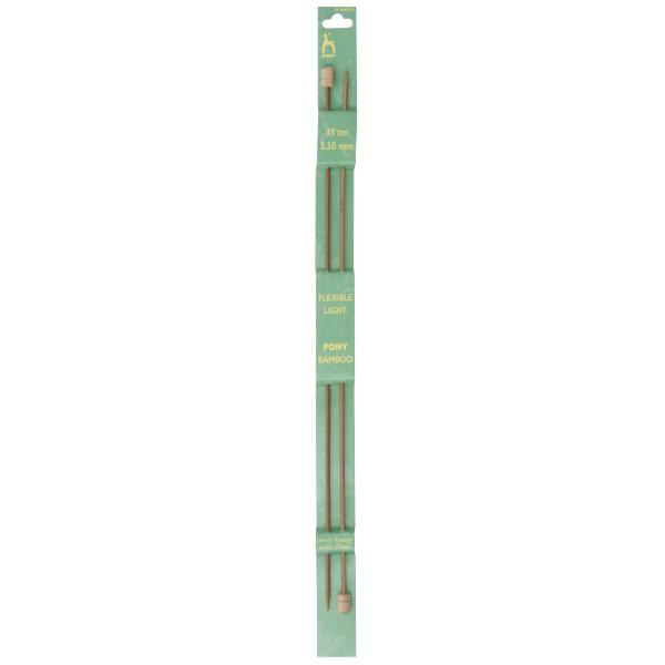 Pony Bamboo Knitting Needles (33cm)