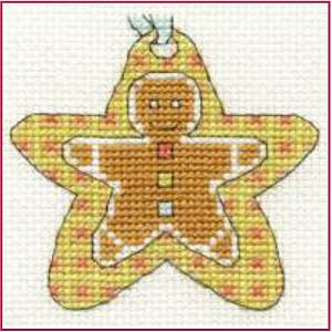 Christmas Gingerbread Star Cross Stitch Kit