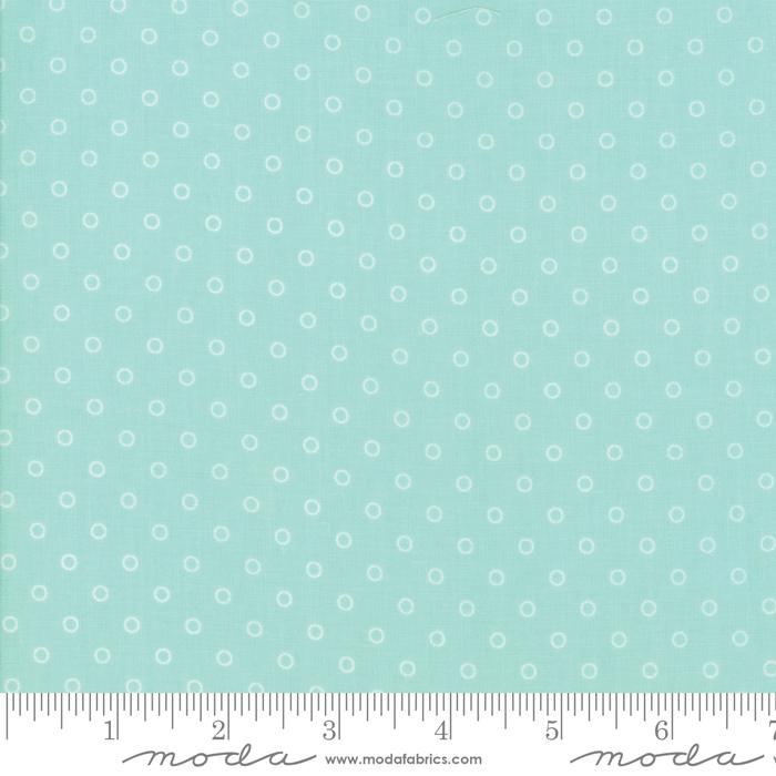 Moda Smitten - Aqua Little Darling Dot