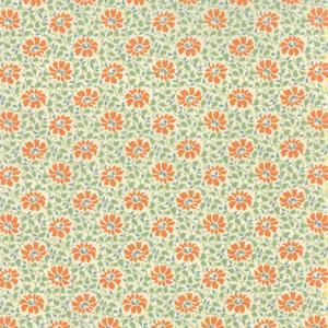Moda Somerset - Persimmon on Creme Flora Swirls 20232-17