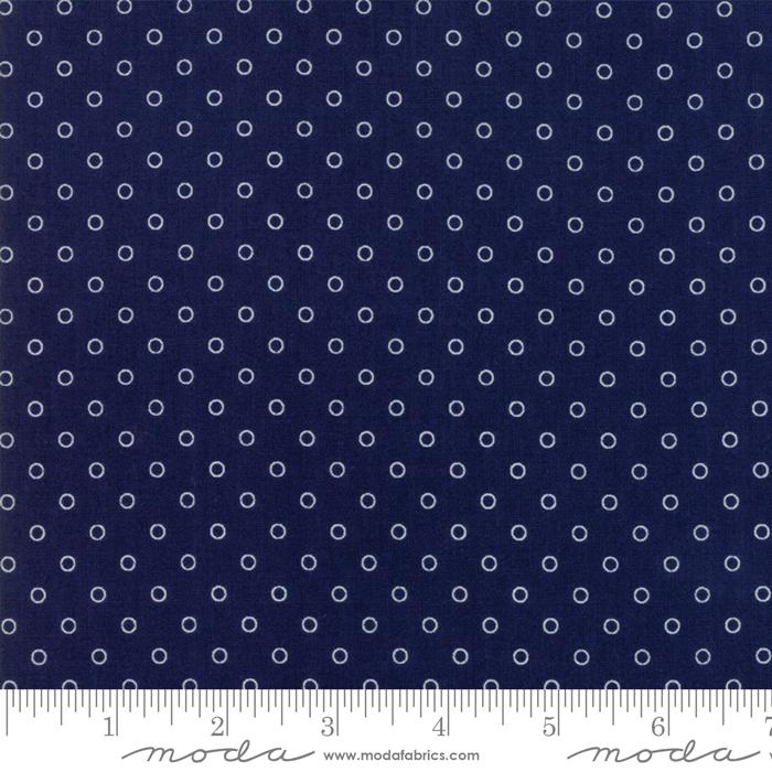 Moda Smitten - Navy Little Darling Dot 55172-15